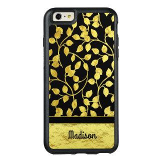 Imitat-Goldfolien-botanisches Blätter, Reben, auf OtterBox iPhone 6/6s Plus Hülle