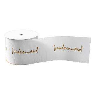 Imitat-Goldfolien-Brautjungfer Ripsband