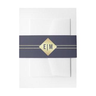 Imitat-Goldfolien-Einladungs-Bauch-Bänder des Einladungsbanderole