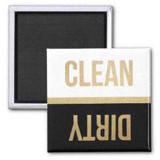 Imitat-Goldfolien-saubere schmutzige Spülmaschine Quadratischer Magnet