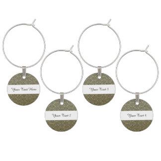 Imitat-Goldfolien-Schwarz-Kreis-Fan-Muster Glasmarker