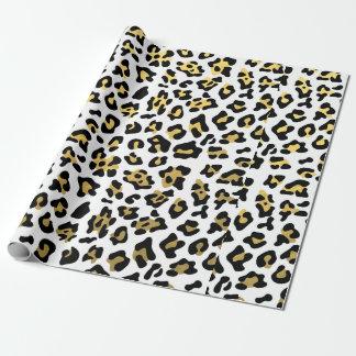 Imitat-Goldfolien-Schwarz-Leopard-Druck-Muster Geschenkpapier