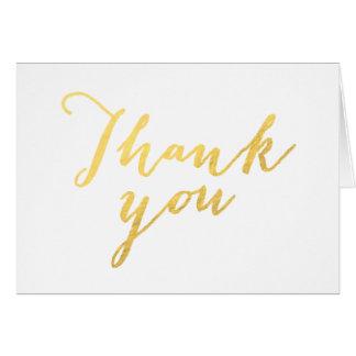 Imitat-Goldfolien-Skriptchic-Hochzeit danken Ihnen Mitteilungskarte