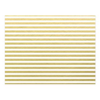 Imitat-Goldfolien-weißes Streifen-Muster Postkarte
