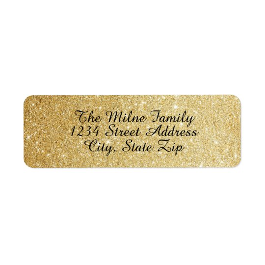 Imitat-GoldGlitter-Adressen-Etiketten Rücksende Aufkleber