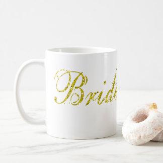 Imitat-GoldGlitzer-Braut, zum Tasse zu sein-