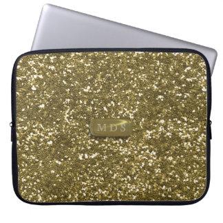 Imitat-GoldGlitzer-Laptop-Hülse