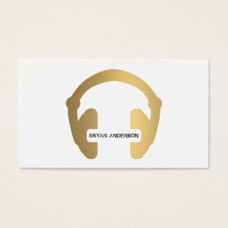 Imitat-Goldkopfhörer DJ-Geschäfts-Karte Visitenkarten