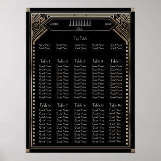 Imitat-Goldkunst-Deko Gatsby Poster