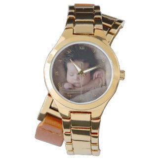 Imitat-Goldrömische Ziffern u. kundenspezifisches Armbanduhr