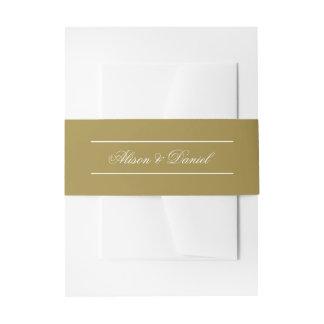 Imitat-Goldweihnachtsfeiertags-Porträt Einladungsbanderole