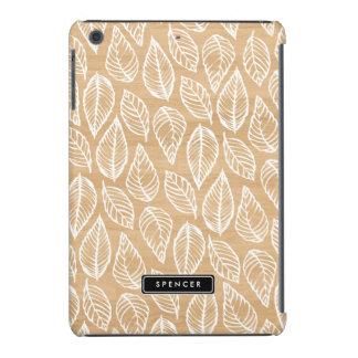 Imitat-Holz   verlässt Muster kundenspezifisches iPad Mini Hüllen