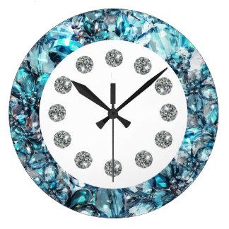 Imitat-Juwel Bling Wand-Uhr Große Wanduhr