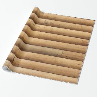 Imitat-Klotz-Kabinen-Abstellgleis Geschenkpapier