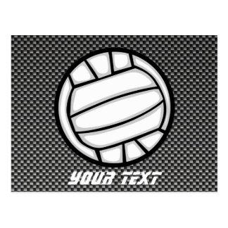 Imitat-Kohlenstoff-Faser-Volleyball Postkarte