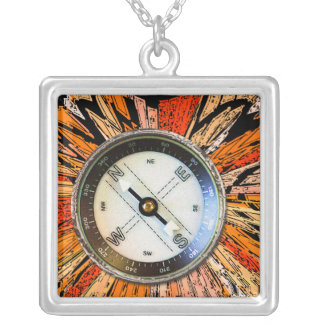 Imitat-Kompass Personalisierter Schmuck