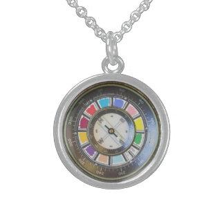 Imitat-Kompass Sterlingsilber Halskette