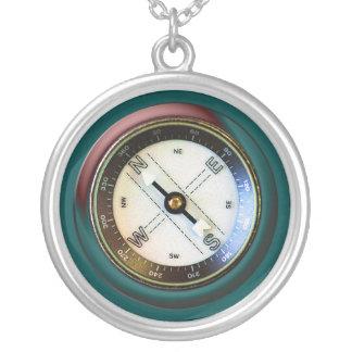 Imitat-Kompass Halskette