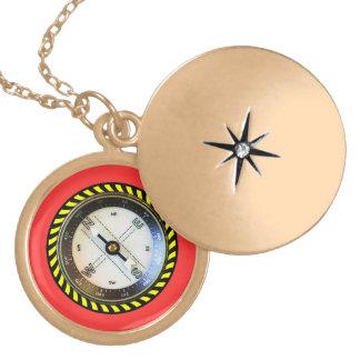Imitat-KompassgoldendeLocket Anhänger