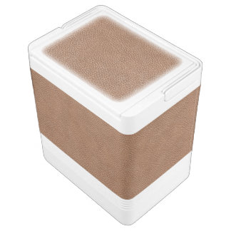 Imitat ledernes natürliches Brown Kühlbox