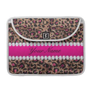 Imitat-Leopard-heißes Rosa-Rosen-Goldfolie und Sleeve Für MacBook Pro