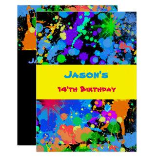 Imitat Neon, Farben-Spritzer, Karte