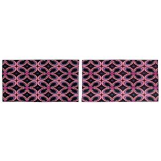 Imitat-rosa Blumen-NeonPower Kissenbezug