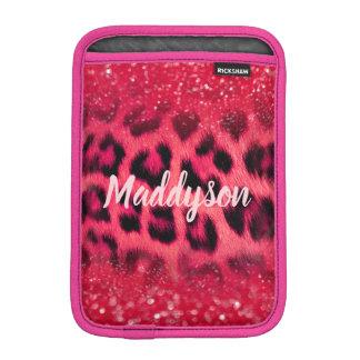 Imitat-rosa Glitzer-Leopard-Stellen für jugendlich iPad Mini Sleeve