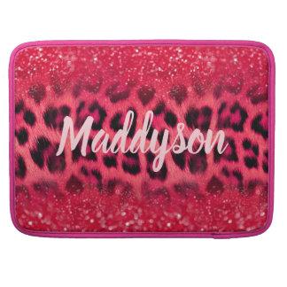 Imitat-rosa Glitzer-Leopard-Stellen für jugendlich Sleeve Für MacBooks