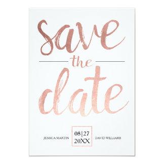 Imitat-Rosen-Gold Save the Date Karte