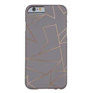 Imitat-Rosen-Goldelegantes modernes unbedeutendes Barely There iPhone 6 Hülle