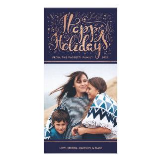 Imitat-Rosen-Goldfolien-Feiertags-Foto-Karte Photokarten