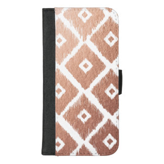 Imitat-Rosen-Goldfolien-Stammes- Muster iPhone 8/7 Plus Geldbeutel-Hülle