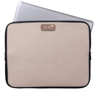 Imitat-Rosen-Goldmonogramm erröten rosa Laptopschutzhülle