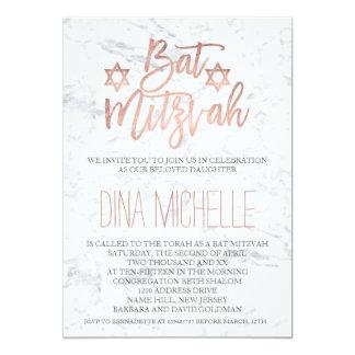 Imitat-Rosengoldtypographiemarmor Chic Schläger 12,7 X 17,8 Cm Einladungskarte