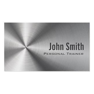 Imitat-rostfreier Stahl-Trainer-Geschäfts-Karte Visitenkarten Vorlagen