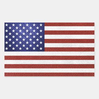 Imitat-rote weiße blaue Leder USA-Flagge Rechteckiger Aufkleber
