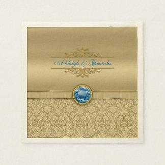 Imitat-Saphir-blauer Edelstein-metallischer Serviette