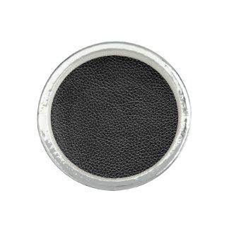Imitat-schwarzes Leder Ringe