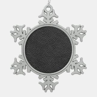 Imitat-schwarzes Leder Schneeflocken Zinn-Ornament