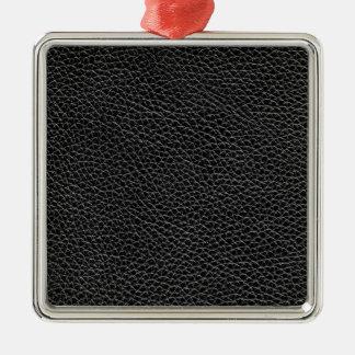 Imitat-schwarzes Leder Silbernes Ornament