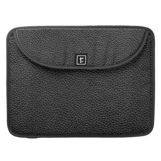Imitat-schwarzes Leder Sleeve Für MacBooks
