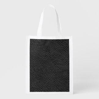 Imitat-schwarzes Leder Wiederverwendbare Einkaufstasche