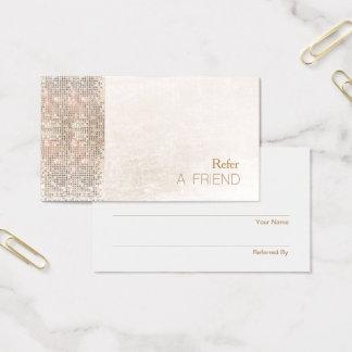 IMITAT Sequin gebürstete weiße Visitenkarte