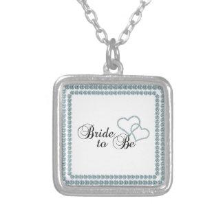 Imitat-Show-Braut, zum Quadrat zu sein Halskette Mit Quadratischem Anhänger
