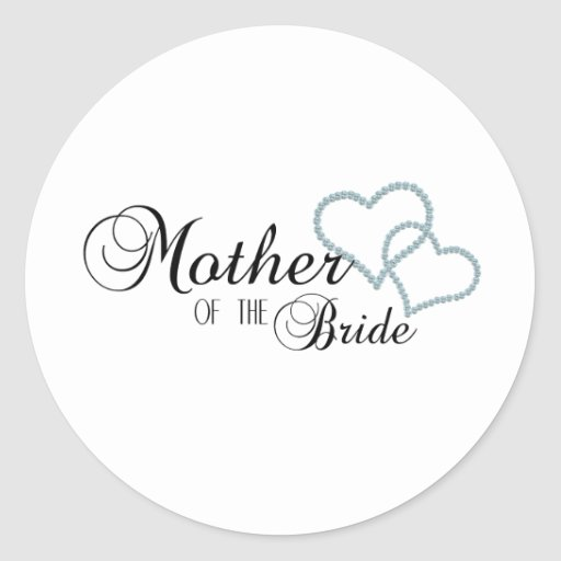 Imitat-Show-Mutter der Braut Runde Aufkleber