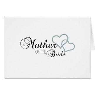 Imitat-Show-Mutter der Braut Grußkarte