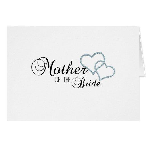 Imitat-Show-Mutter der Braut Grußkarten