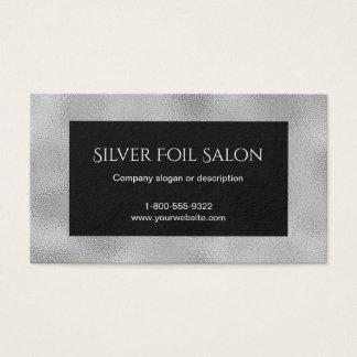 Imitat-silberne Folien-Blick mit Schwarzem Visitenkarte