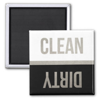 Imitat-silberne Folien-saubere schmutzige Quadratischer Magnet